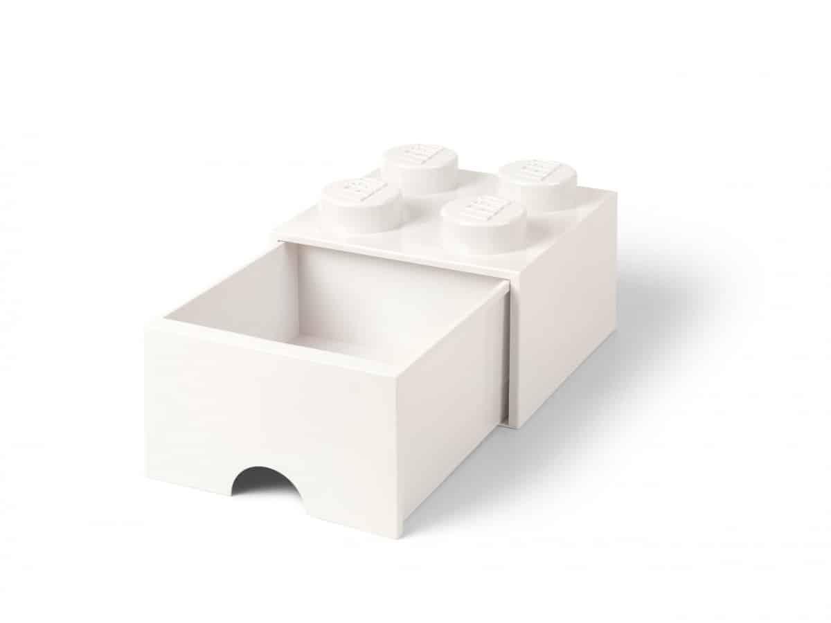 brique blanche de rangement lego 5006208 a tiroir et a 4 tenons scaled