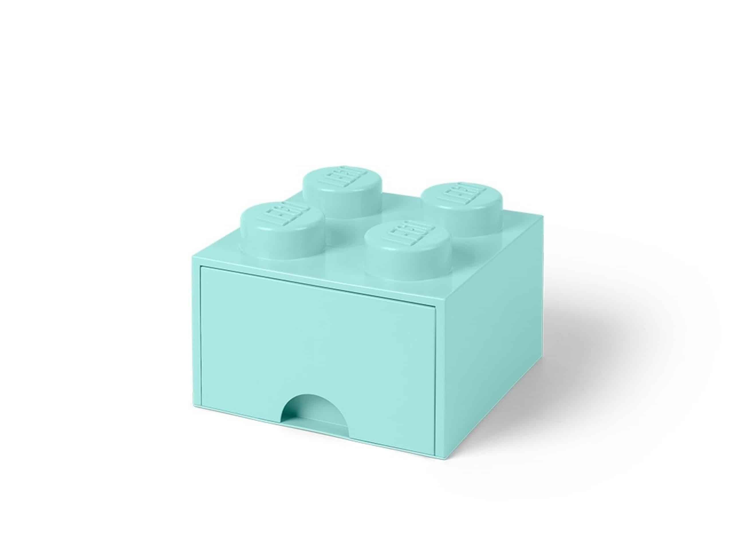 brique bleu clair aqua de rangement lego 5005714 a tiroir et a 4 tenons scaled