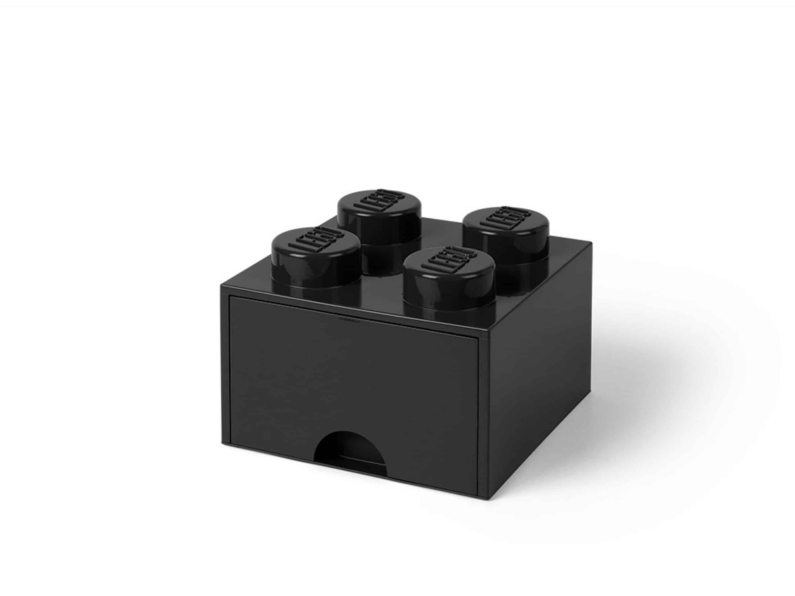 brique noire de rangement lego 5005711 a tiroir et a 4 tenons scaled