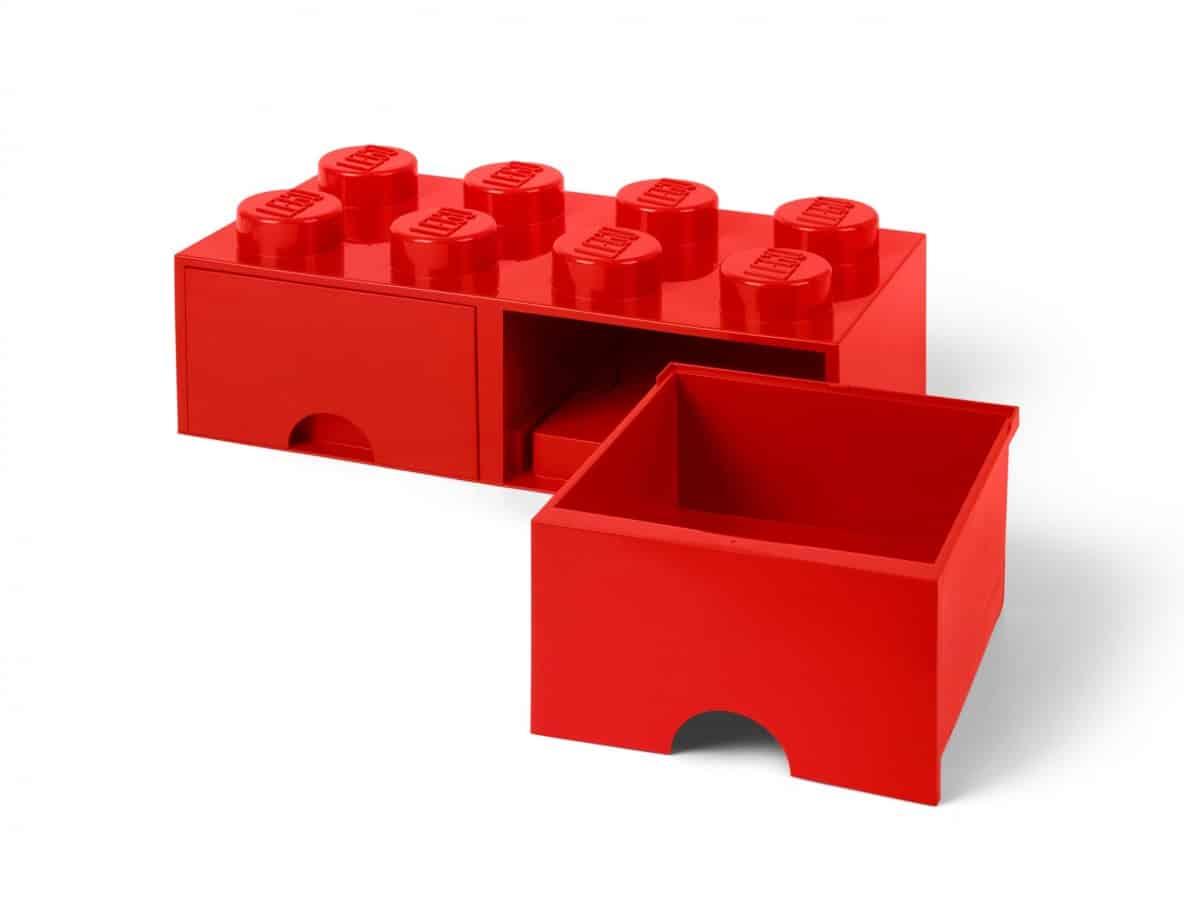 brique rouge de rangement lego 5006131 a tiroir 8 tenons scaled