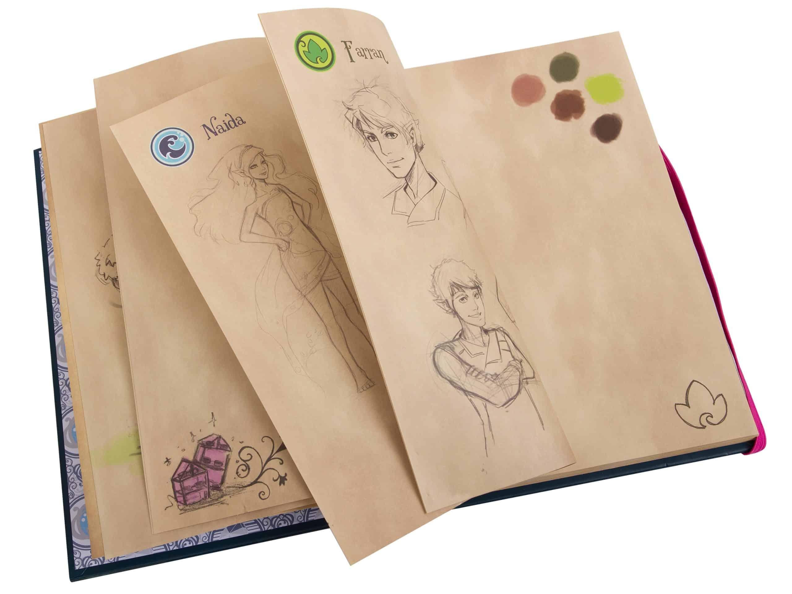 carnet de croquis demily jones lego 853565 elves scaled