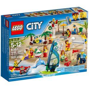 ensemble de figurines lego 60153 city la plage