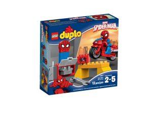 lego 10607 latelier de la moto araignee de spider man