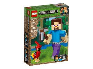lego 21148 bigfigurine steve et son perroquet
