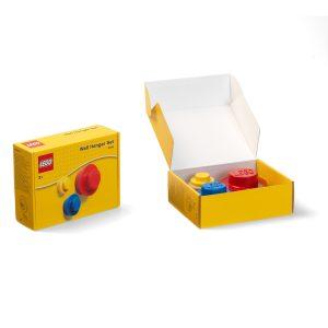 lego 5005906 lot de porte manteaux rouge bleu et jaune