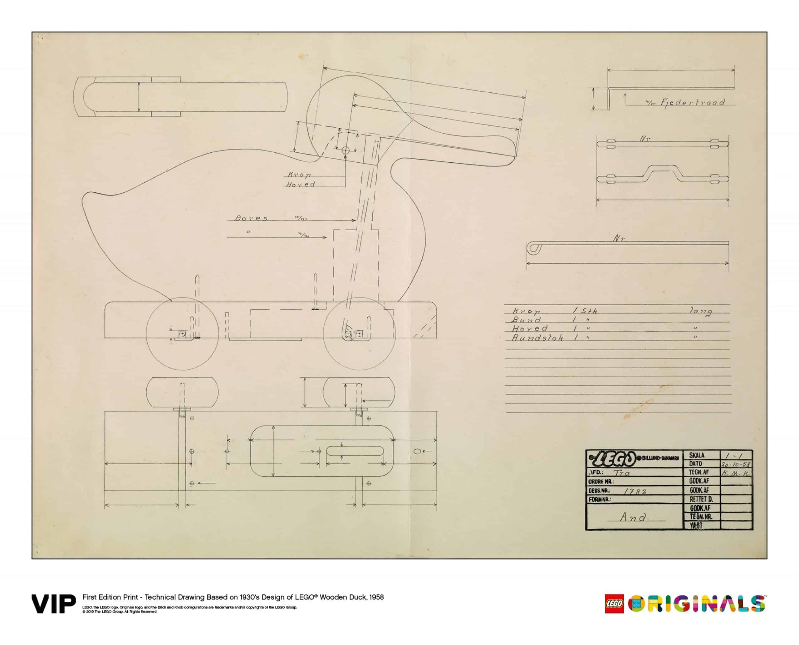 lego 5005999 technical drawing wooden duck 1958 scaled
