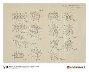 lego 5006004 tirage 1re edition du brevet britannique 1968