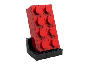 lego 5006085 ensemble brique rouge 2x4 a construire