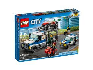 lego 60143 le braquage du transporteur de voitures