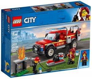 lego 60231 le camion du chef des pompiers