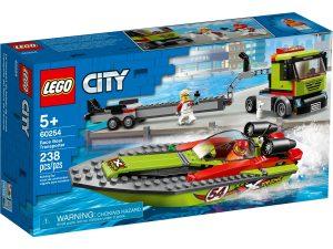 lego 60254 le transport du bateau de course