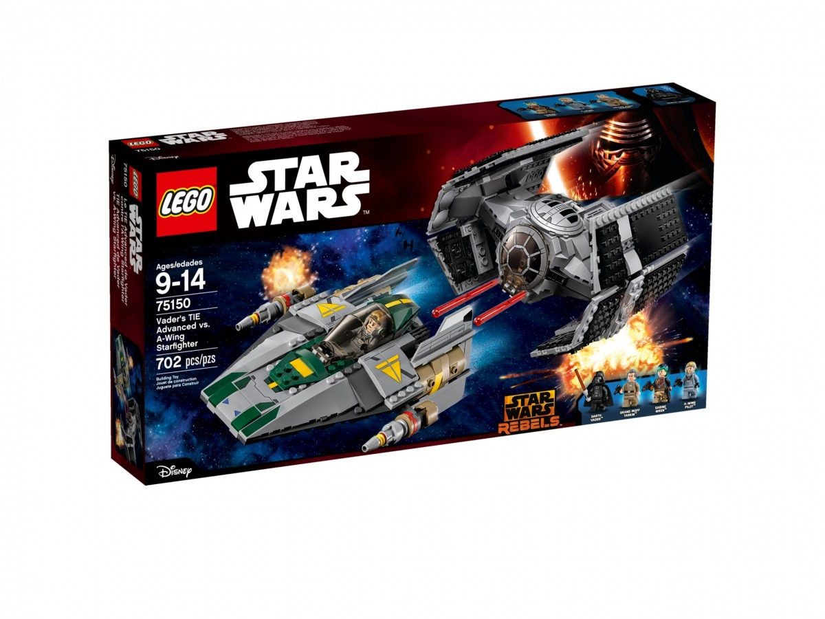 lego 75150 le tie advanced de dark vador contre la wing starfighter scaled