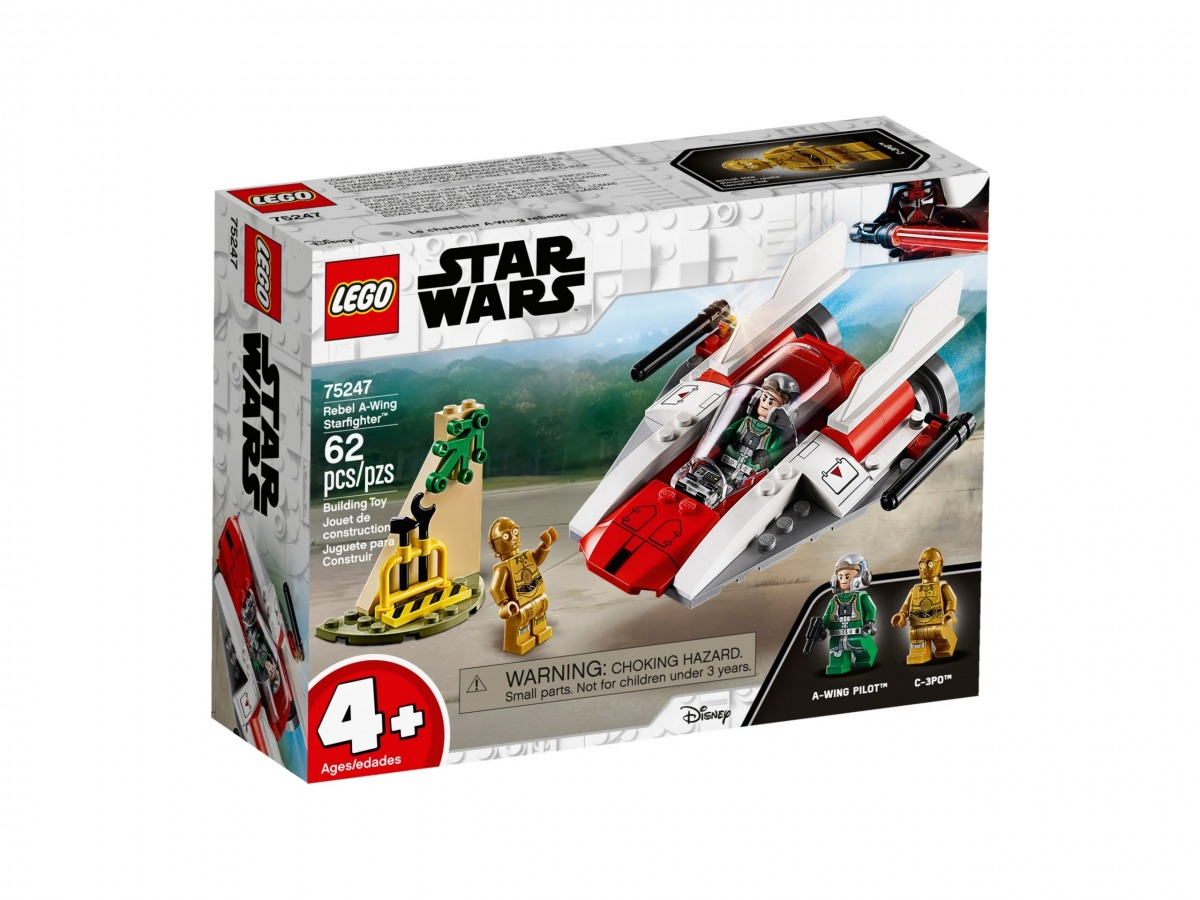 lego 75247 chasseur stellaire rebelle a wing scaled