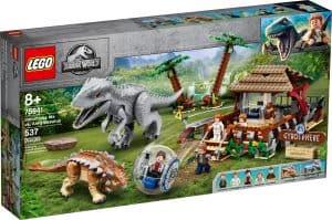 lego 75941 lindominus rex contre lankylosaure