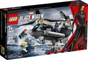lego 76162 la poursuite en helicoptere de black widow