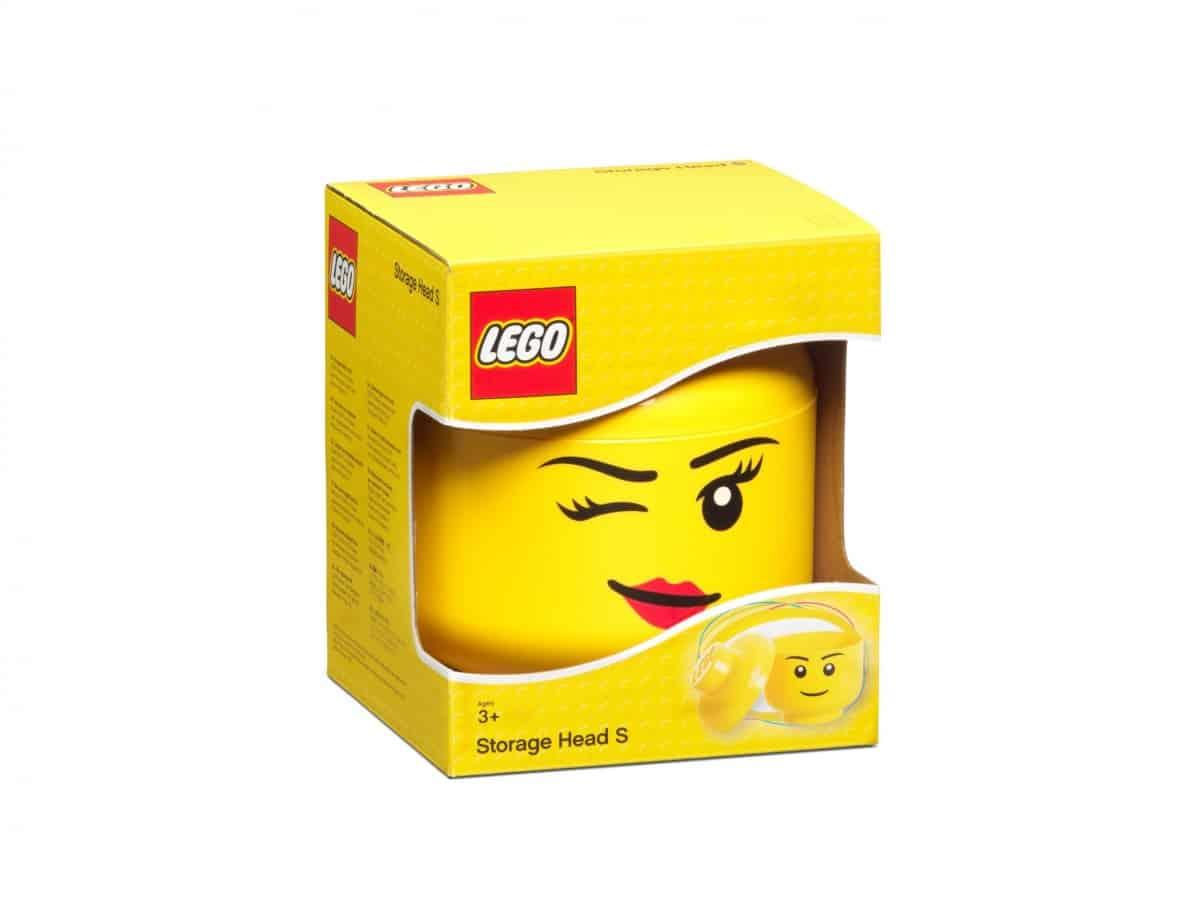 rangement en forme de tete de fille lego 5006186 petit clin doeil scaled