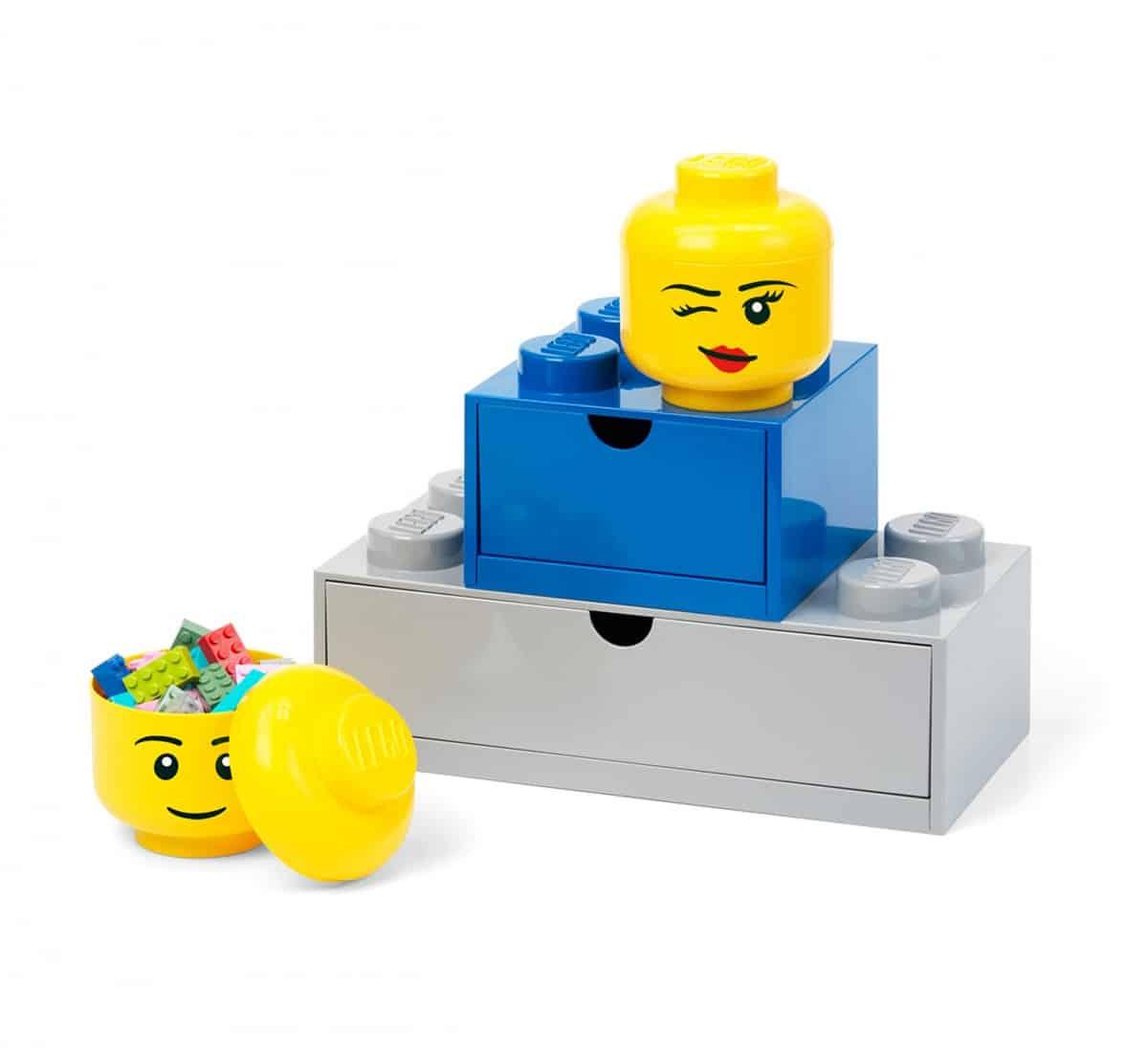 rangement en forme de tete de fille lego 5006211 mini clin doeil scaled