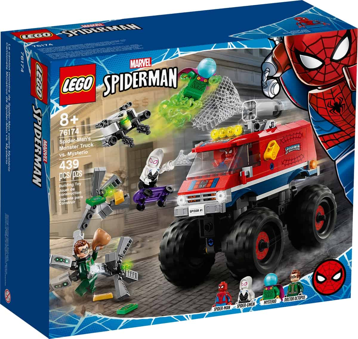 lego 76174 le camion monstre de spider man contre mysterio