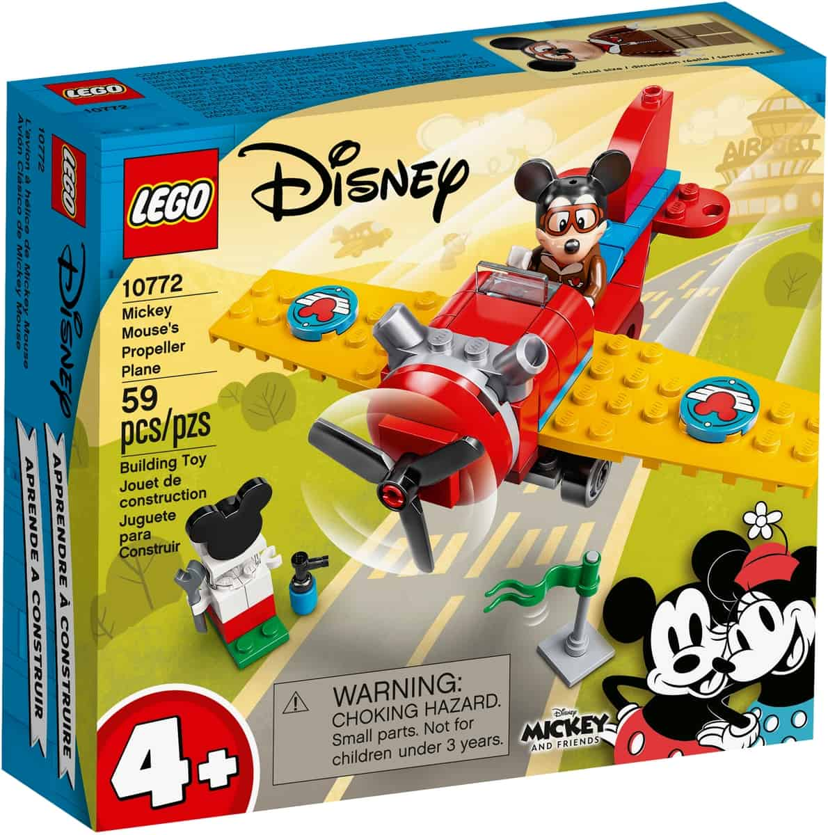 lego 10772 lavion a helice de mickey mouse
