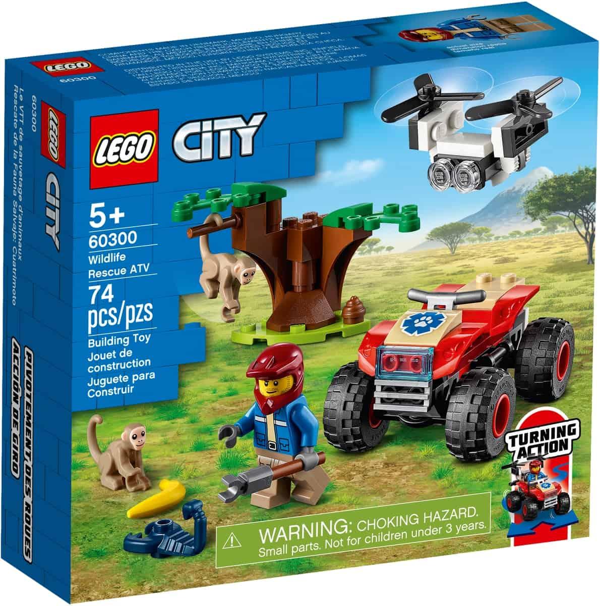 lego 60300 le quad de sauvetage des animaux sauvages