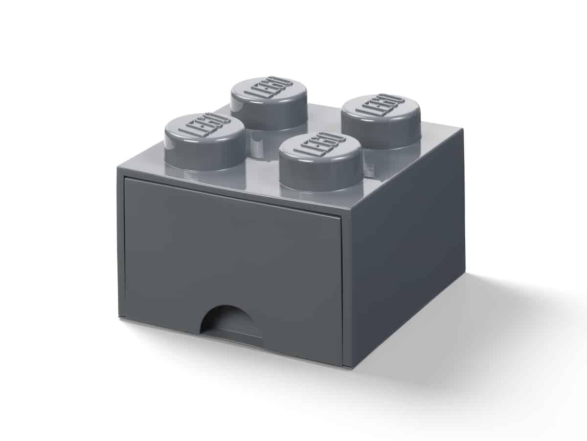 lego 5006328 la brique 4 tenons avec tiroir gris fonce