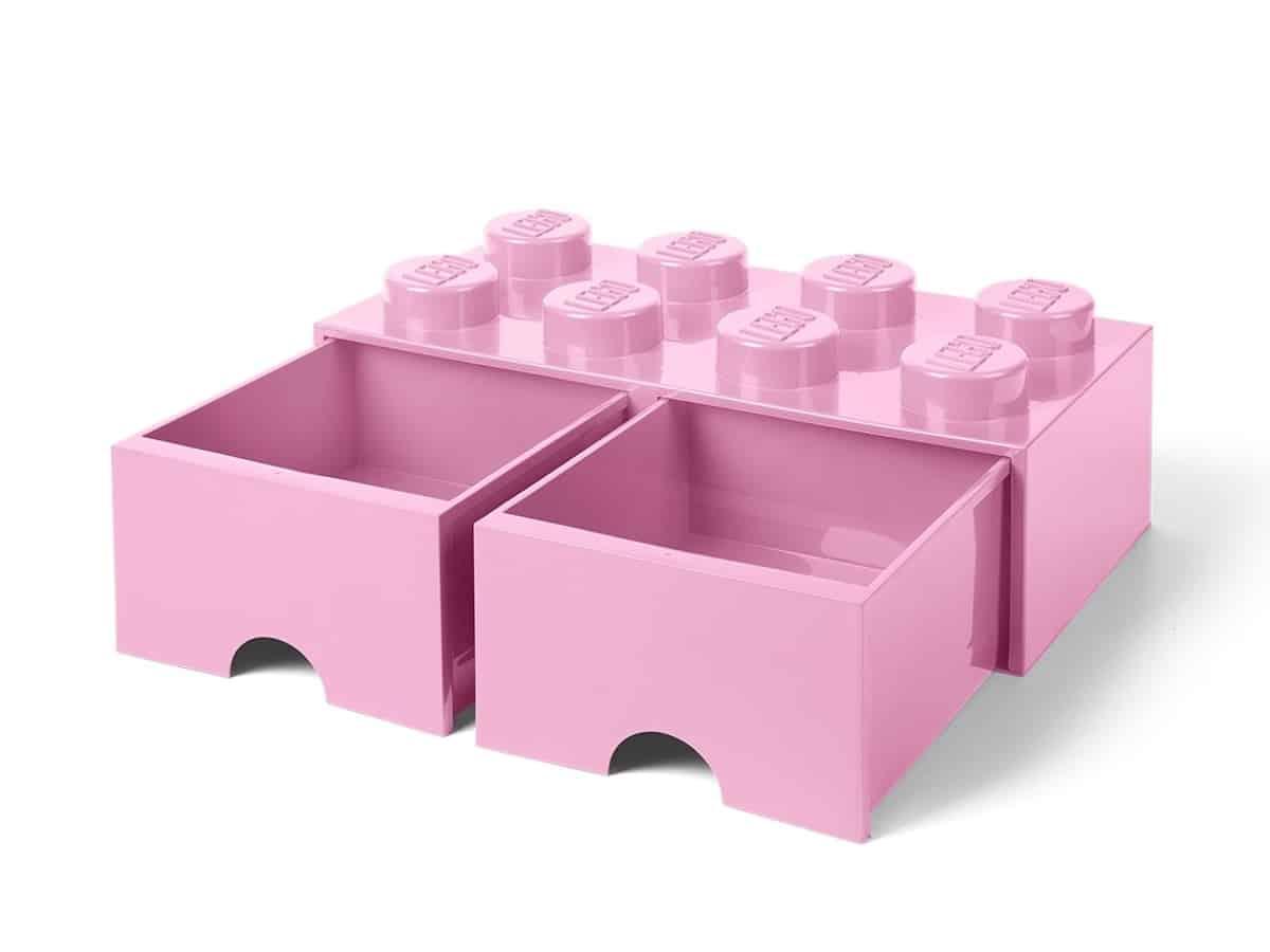 lego 5006134 brique 8tenons avec tiroirs mauve