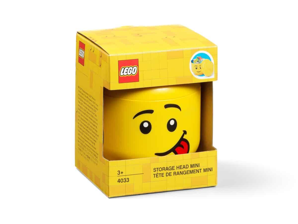 rangement en forme de tte de garon lego 5006210 mini comique